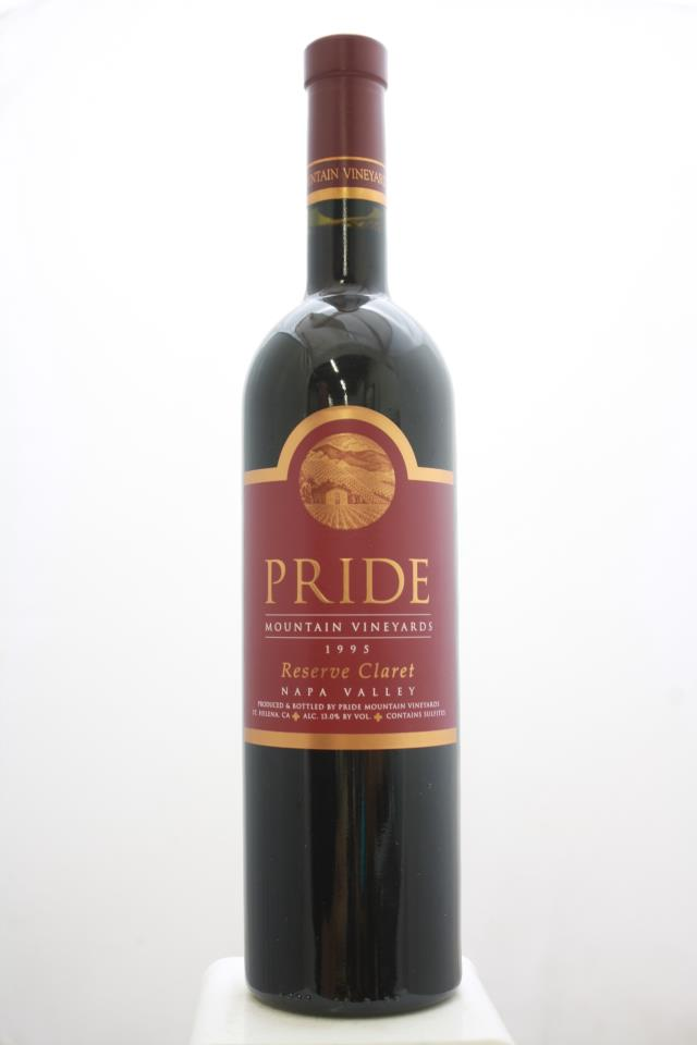 Pride Mountain Vineyards Proprietary Red Claret Reserve 1995