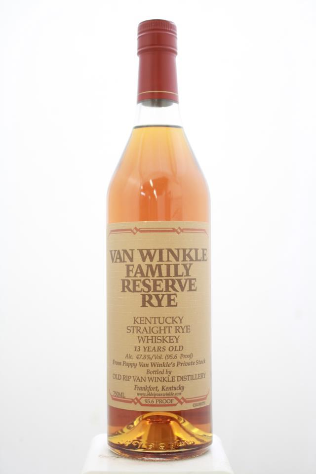 Old Rip Van Winkle Van Winkle Family Reserve Rye 13 Year Old Kentucky Straight Rye Whiskey NV