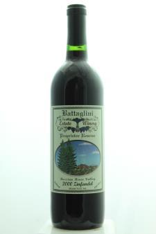 Battaglini Zinfandel Old Vines Reserve 2000