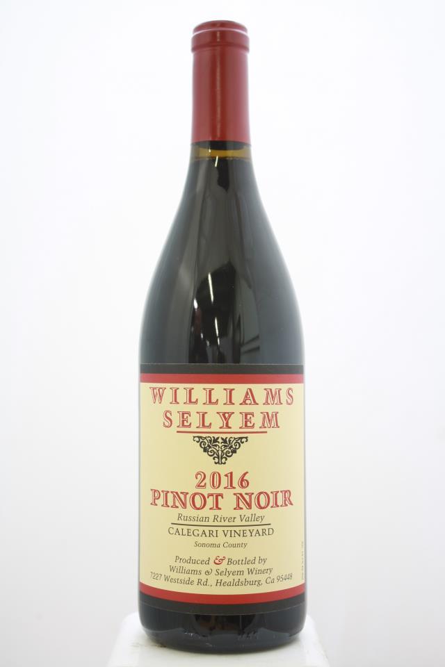 Williams Selyem Pinot Noir Calegari Vineyard 2016