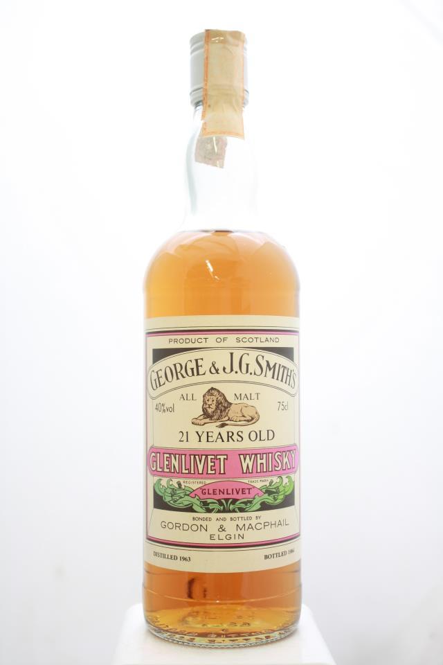 Gordon & MacPhail George & J.G. Smith's Glenlivet Single Malt Scotch Whisky 21-Years-Old 1963