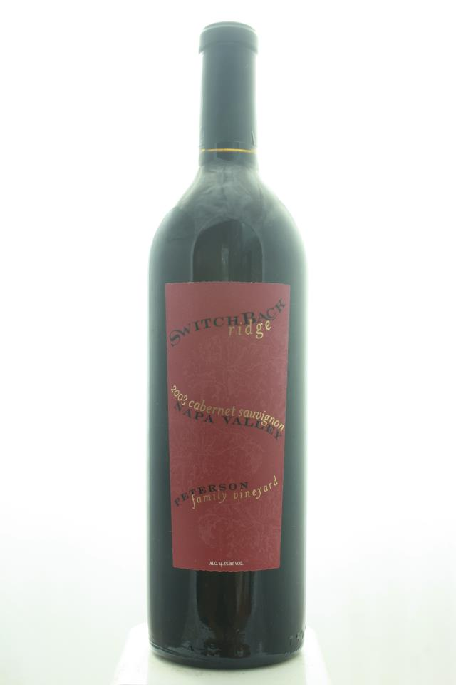 Switchback Ridge Cabernet Sauvignon Peterson Family Vineyard 2003
