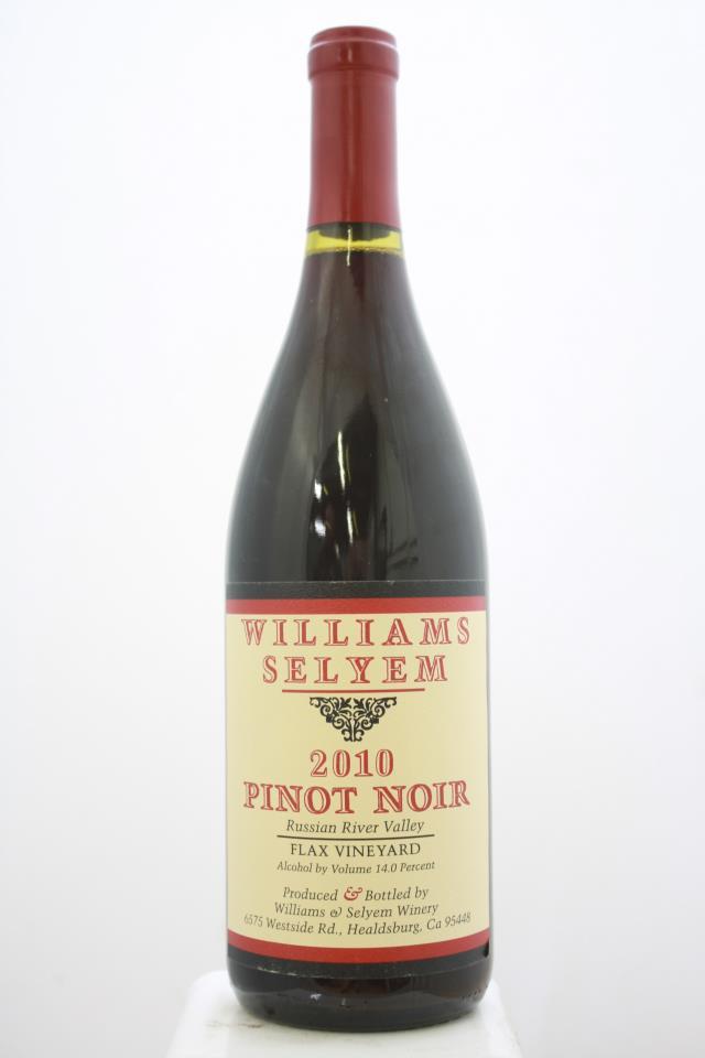 Williams Selyem Pinot Noir Flax Vineyard 2010