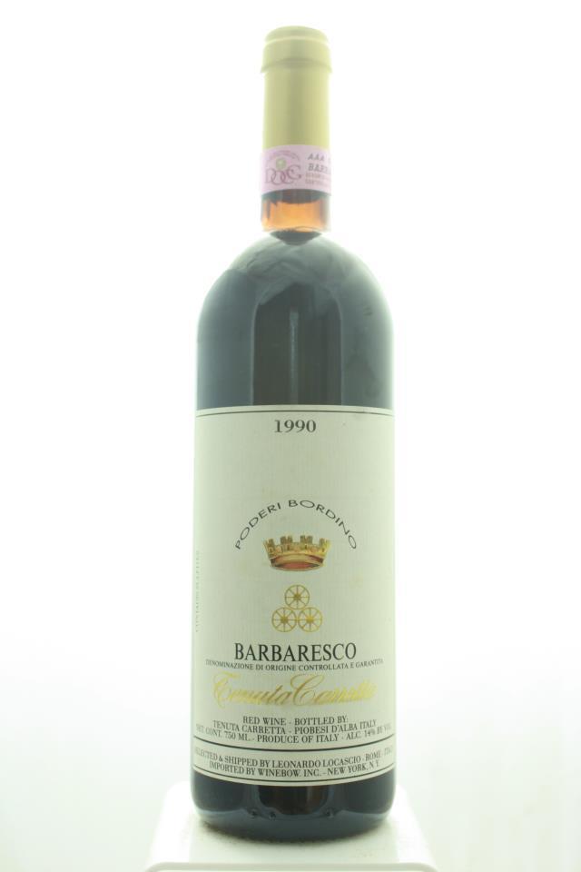 Carretta Barbaresco Poderi Bordino 1990