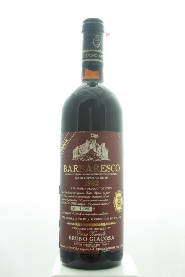 Bruno Giacosa Barbaresco Santo Stefano di Neive Riserva 1982