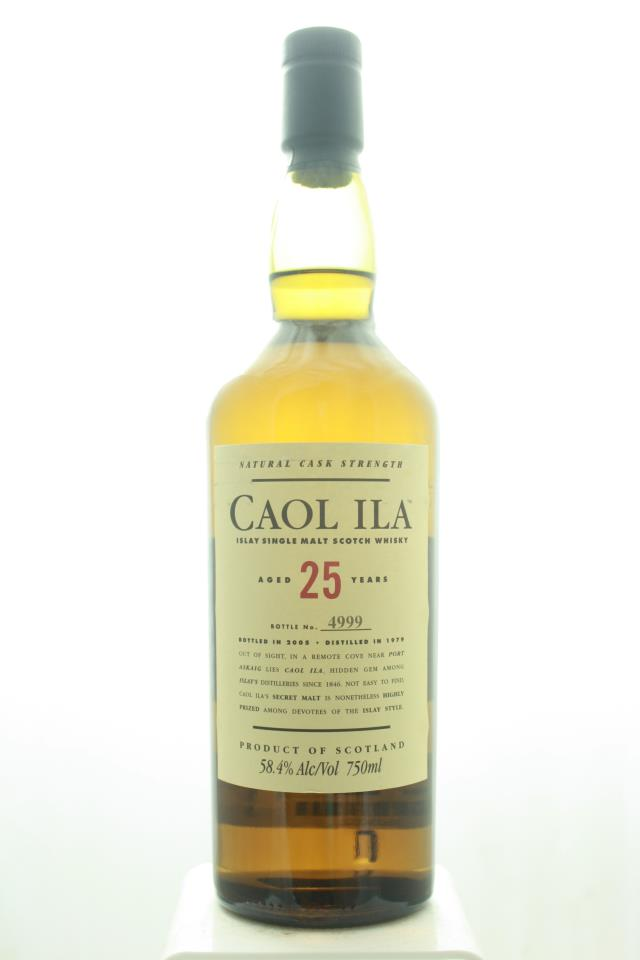 Caol Ila Islay Single Malt Scotch Whisky Natural Cask Strength 25-Years-Old NV