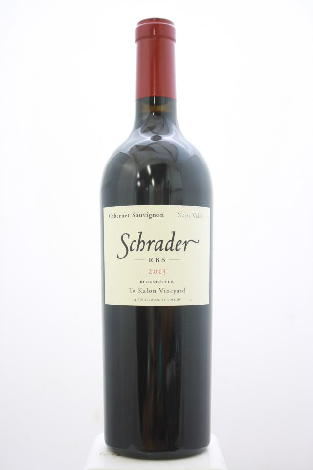 Schrader Cabernet Sauvignon RBS Beckstoffer To Kalon Vineyard 2013