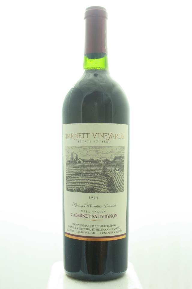 Barnett Vineyards Cabernet Sauvignon Spring Mountain District 1994