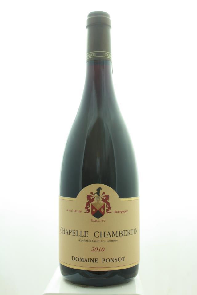 Domaine Ponsot Chapelle Chambertin 2010