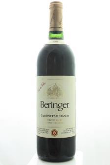 Beringer Vineyards Cabernet Sauvignon Knights Valley 1988