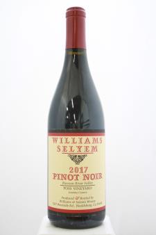Williams Selyem Pinot Noir Foss Vineyard 2017