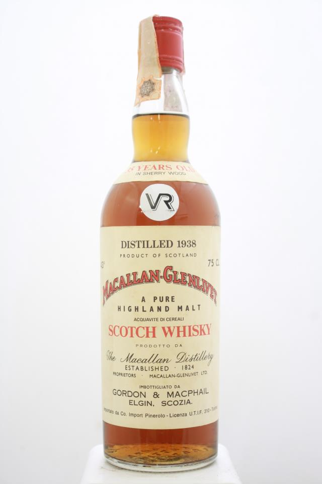 Macallan-Glenlivet A Pure Highland Malt Scotch Whisky 35-Years-Old 1938