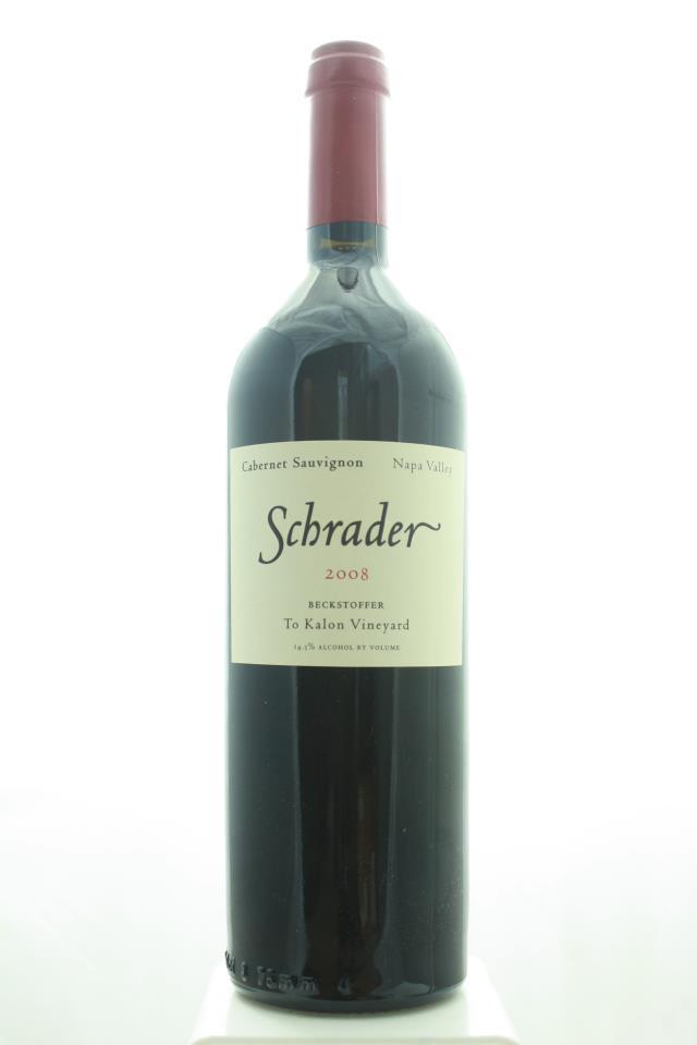 Schrader Cabernet Sauvignon Beckstoffer To Kalon Vineyard 2008