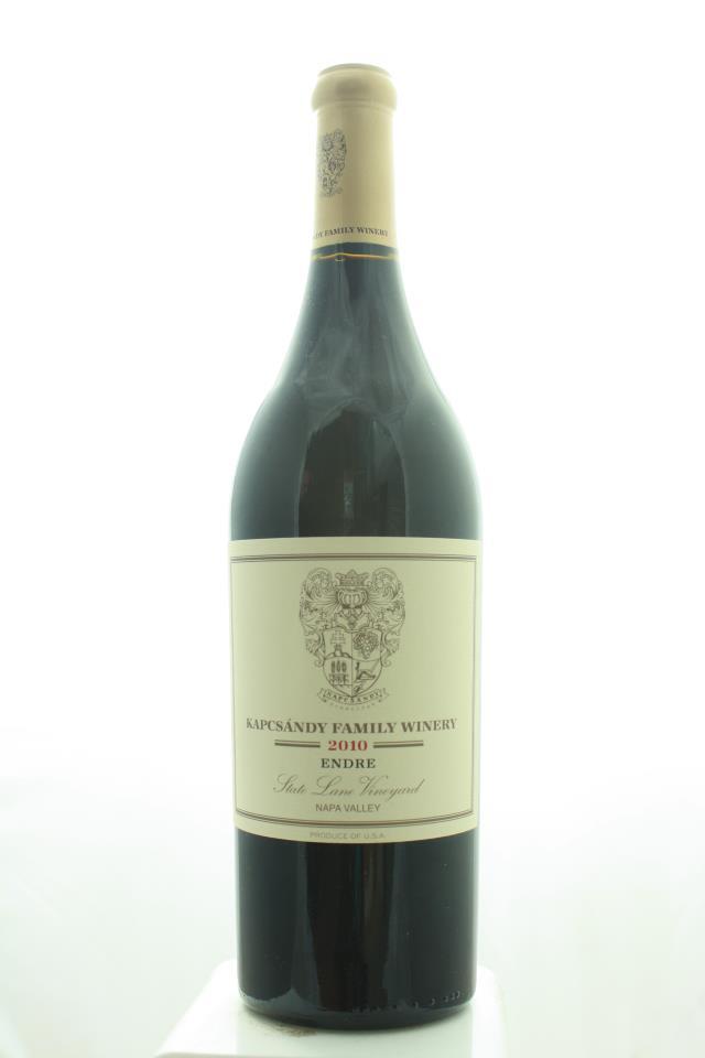 Kapcsandy Family Winery Endre State Lane Vineyard 2010