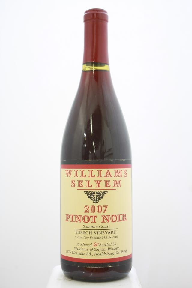 Williams Selyem Pinot Noir Hirsch Vineyard 2007