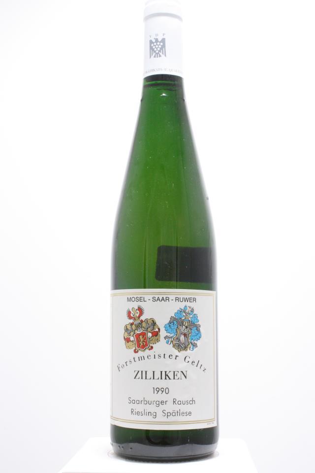 Forstmeister Geltz Zilliken Saarburger Rausch Riesling Spätlese #04 1990