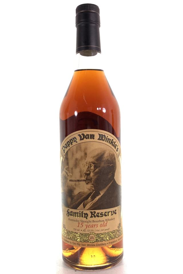 Old Rip Van Winkle Pappy Van Winkle's Kentucky Straight Bourbon Whiskey Family Reserve 15-Year-Old NV