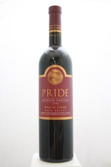 Pride Mountain Vineyards Proprietary Red Claret Reserve 1995