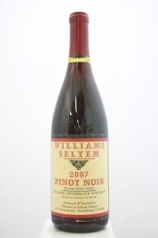 Williams Selyem Pinot Noir Rochioli Riverblock Vineyard 2007