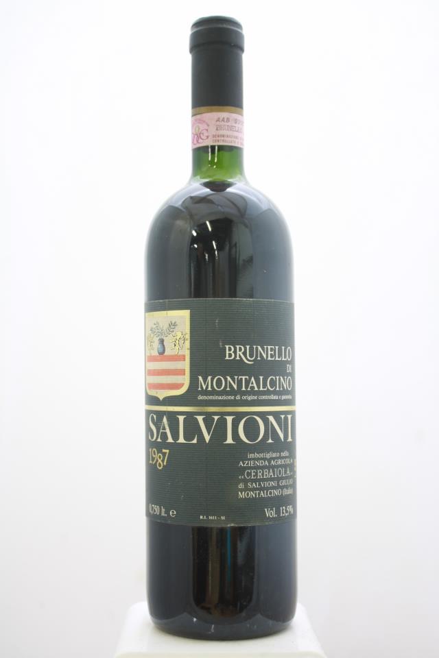 Salvioni Brunello di Montalcino Cerbaiola 1987