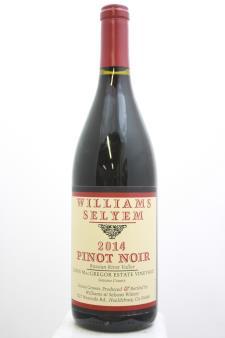 Williams Selyem Pinot Noir Lewis MacGregor Estate Vineyard 2014
