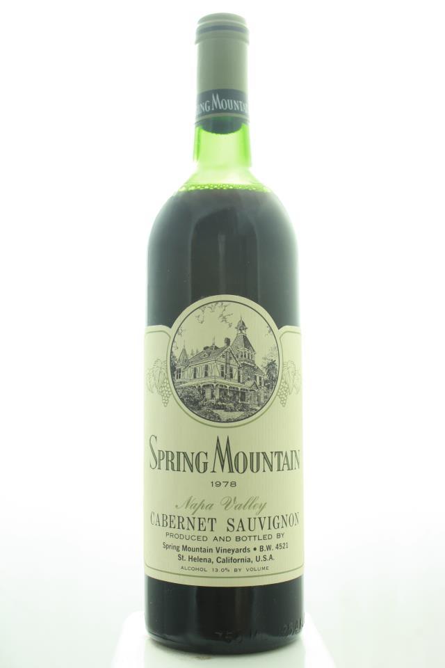 Spring Mountain Vineyards Cabernet Sauvignon 1978