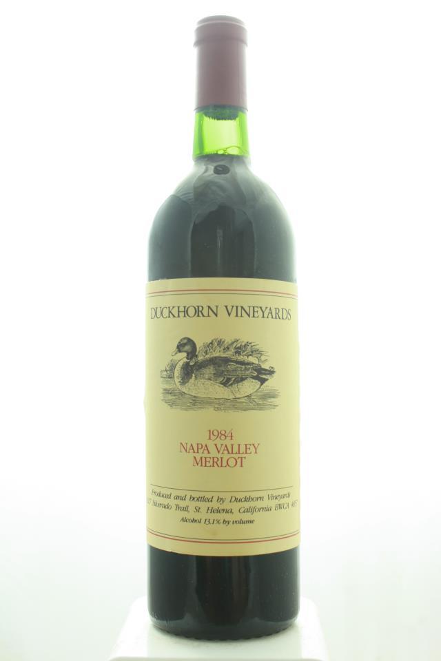 Duckhorn Merlot Napa Valley 1984