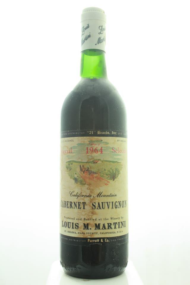 Louis M. Martini Cabernet Sauvignon California Mountain Special Selection 1964
