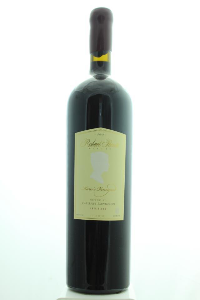 Robert Pecota Cabernet Sauvignon Kara's Vineyard 2003