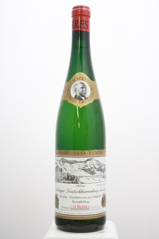 C.H. Berres Zeltinger Deutschherrenberg Riesling Auslese #18 1994