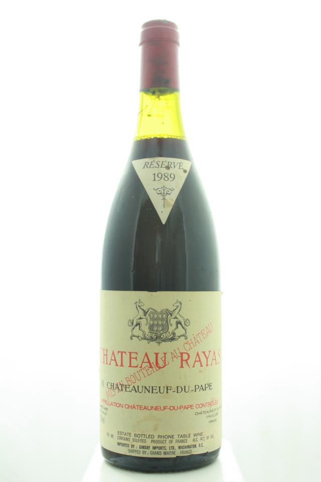 Château Rayas Châteauneuf-du-Pape Cuvée Réservé 1989