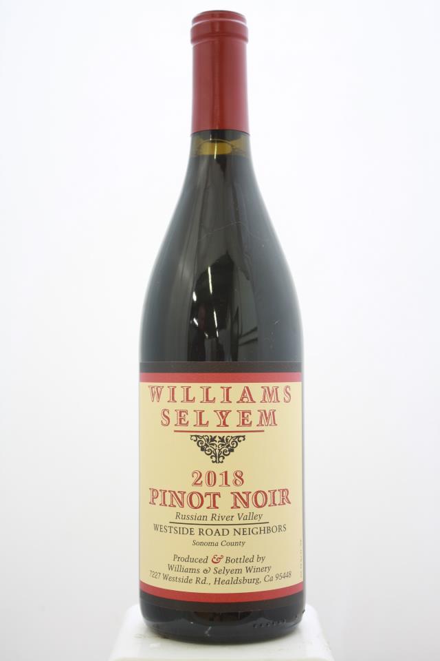 Williams Selyem Pinot Noir Westside Road Neighbors 2018