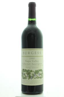 Burgess Cabernet Sauvignon Vintage Selection 1980