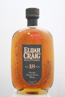 The Elijah Craig Kentucky Straight Bourbon Whiskey Single Barrel 18-Years-Old NV