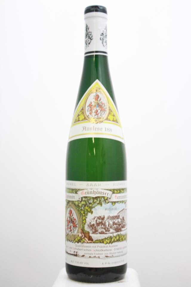 von Schubert Maximin Grünhäuser Herrenberg Riesling Auslese 188 #21 2001