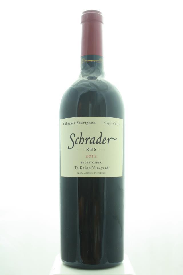 Schrader Cabernet Sauvignon Beckstoffer To Kalon Vineyard RBS 2012