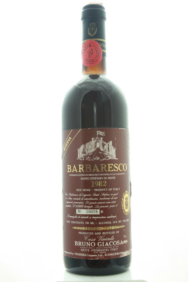 Bruno Giacosa Barbaresco Riserva Santo Stefano di Nieve 1982