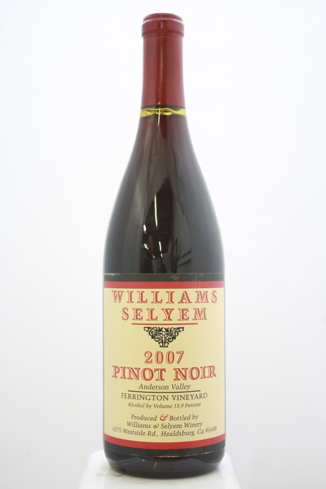 Williams Selyem Pinot Noir Ferrington Vineyard 2007