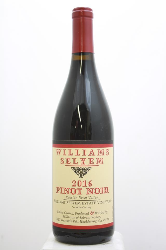 Williams Selyem Pinot Noir Williams Selyem Estate Vineyard 2016