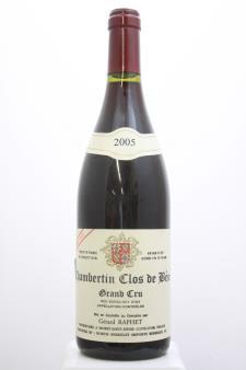 Gérard Raphet Chambertin-Clos de Bèze Cuvée Unique 2005