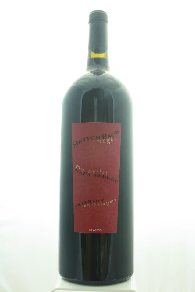 Switchback Ridge Merlot Peterson Family Vineyard 2007