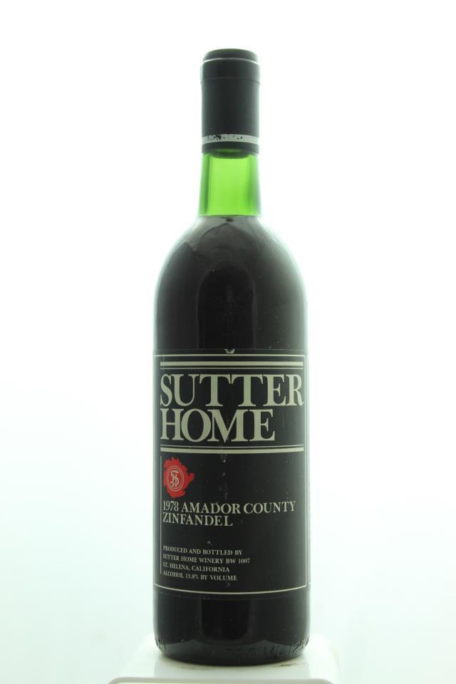 Sutter Home Zinfandel 1978