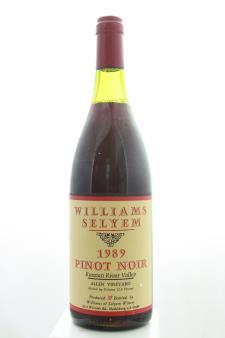 Williams Selyem Pinot Noir Allen Vineyard 1989