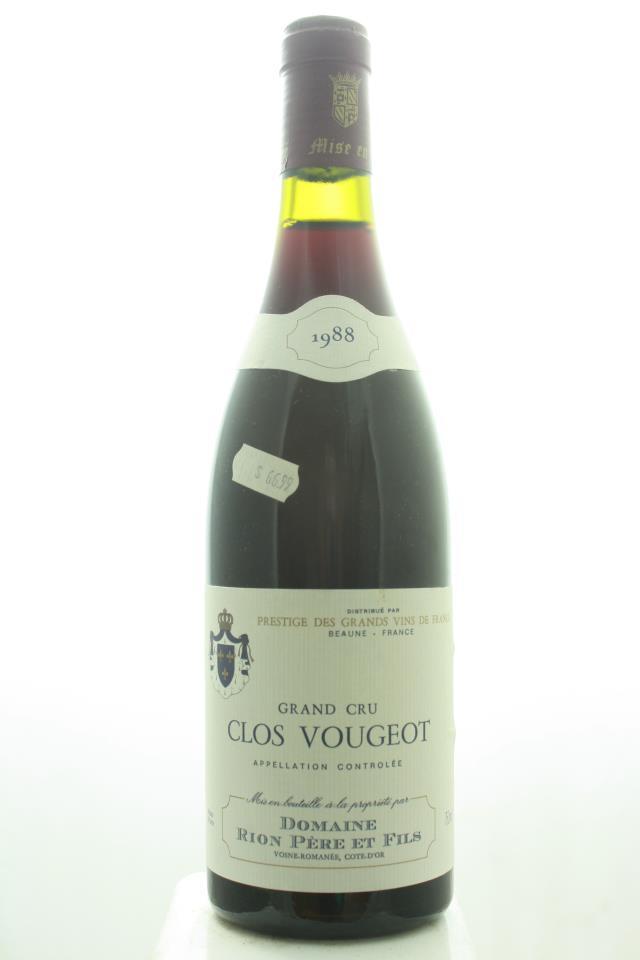 Rion Pere et Fils Clos Vougeot 1988