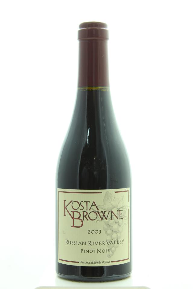 Kosta Browne Pinot Noir Russian River Valley 2003