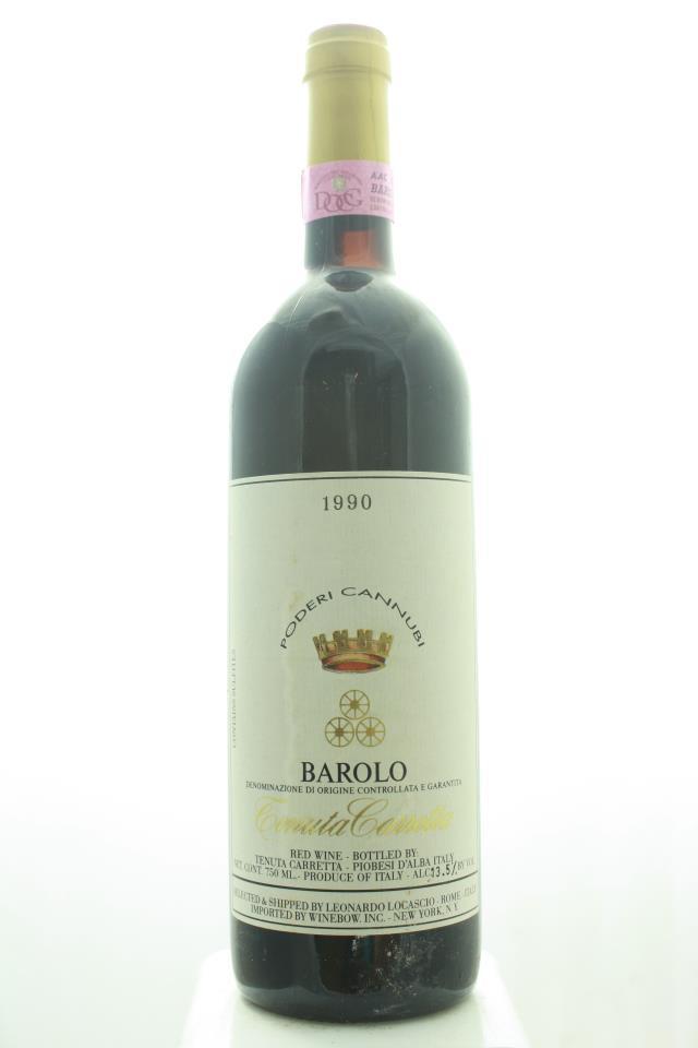 Tenuta Carretta Barolo Poderi Cannubi 1990