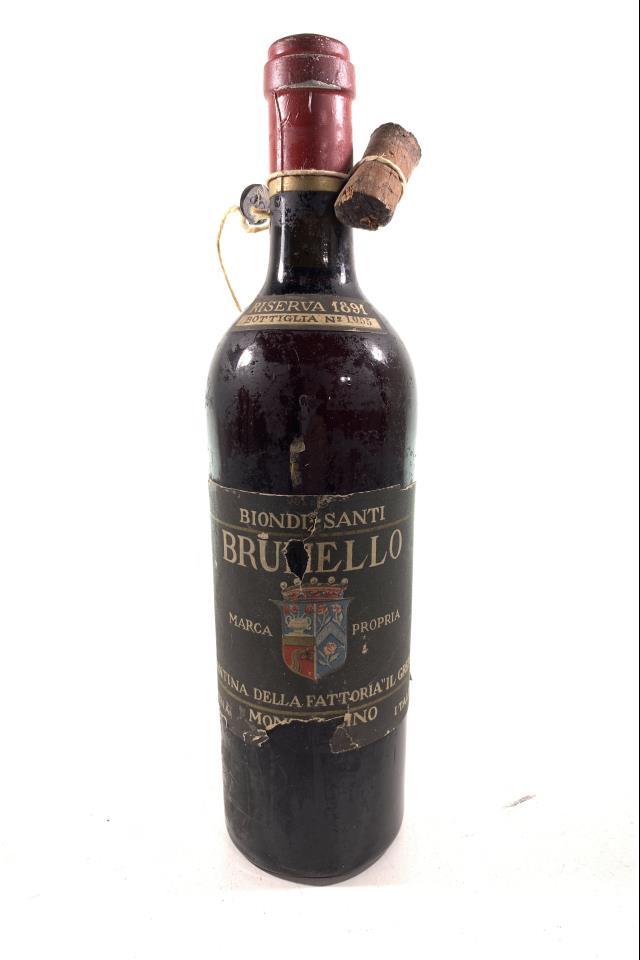 Biondi-Santi (Il Greppo) Brunello di Montalcino Riserva 1891