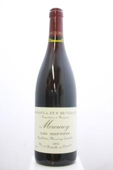 Domaine de Villaine Mercurey Les Montots 2012