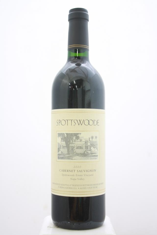 Spottswoode Cabernet Sauvignon Spottswoode Estate Vineyard 2000
