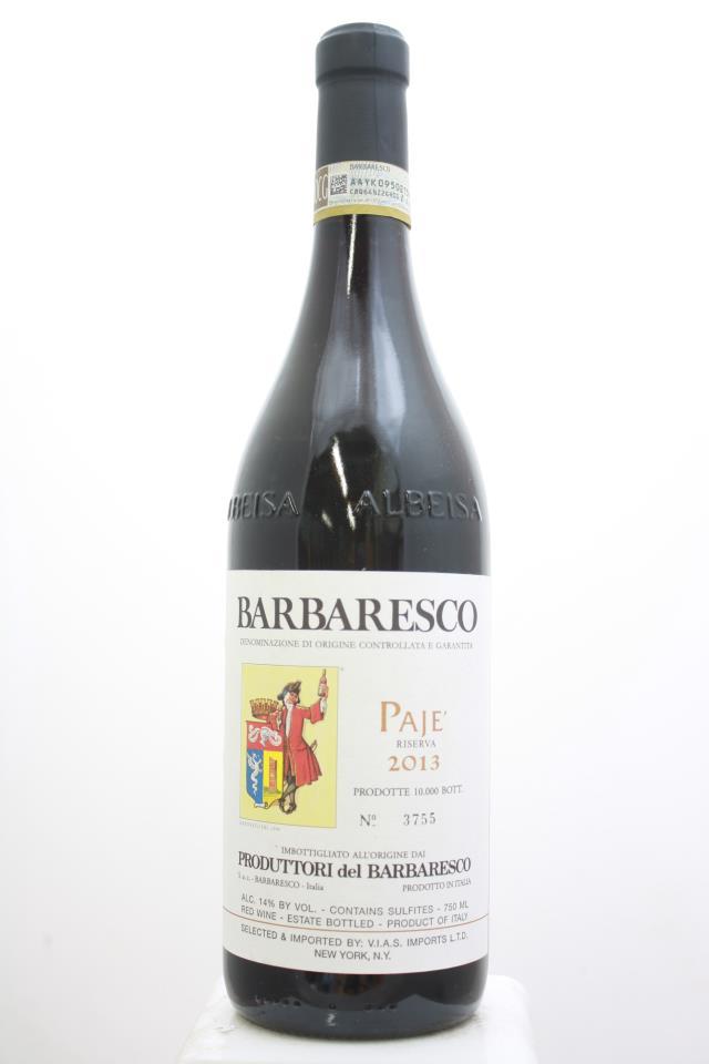 Produttori del Barbaresco Barbaresco Riserva Pajè 2013
